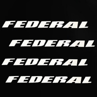 FEDERAL Permanent Tire Lettering Car Stickers For 15''-22'' Wheels 8 Decals
