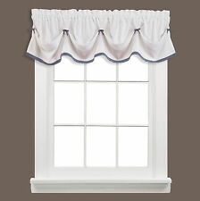 "Saturday Knight Kate 58"" x 13"" Tuck Valance White/Blue"