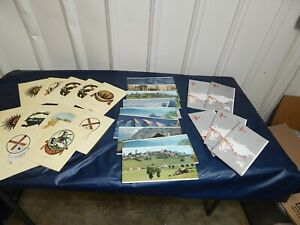 Early 1970's SwissAir Menus (11), postcards (9) and Route brochures (5)