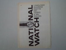 advertising Pubblicità 1962 OROLOGIO NATIONAL WATCH