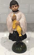 """Antique 1903 Altar Boy, 9"""" Porcelain Nodder Figure Dated And Signed - Portugal"""