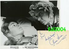 """THORA HIRD Vintage Original 1971 Photo """"THE NIGHTCOMERS"""" & Signed AUTOGRAPH CARD"""
