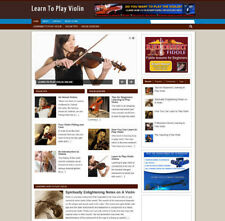 LEARN TO PLAY VIOLIN WEBSITE + AFFILIATE BANNERS AND UK STORE WITH NEW DOMAIN