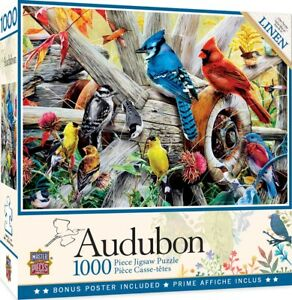 Backyard Birds Audobon 1000-Piece Jigsaw Puzzle