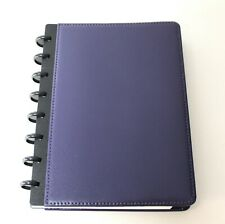 New Levenger Smooth Leather Purple Foldover Notebook Junior New In Box