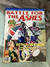 More details for 1992 australia v great britain 1st ashes test @sydney rugby league programme vgc