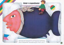 Original Vintage Poster German Theater School Youth Children Fish 1971