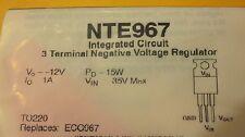 1PCS NTE967 Manu:TI Encapsulation:TO-220,NEGATIVE-VOLTAGE REGULATORS -12VOLT