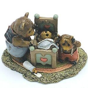 Wee Forest Folk Miniature Figurine Baby Bear Fathers Night Mama Bear BB5