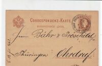 austria 1882  stamps card ref 20920