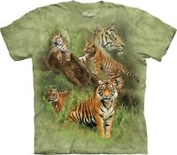The Mountain Unisex Adult Wild Tiger Collage Animal T Shirt