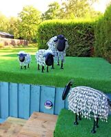 Metal Garden Sheared Sheep Sculptures - Unusual & Quirky (Small/Medium/Large/XL)