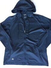 Adidas Women's Climalite Full Zip Up Hoodie Jacket Black Adidas Golf Size Large