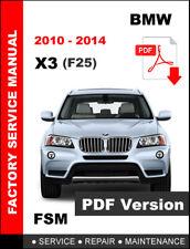 BMW X3 2010 2011 2012 2013 2014 WORKSHOP OEM SERVICE REPAIR FACTORY MANUAL