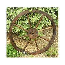 Wooden Wagon Wheel Trellis Rustic Distressed Western Garden Yard  Planter Decor