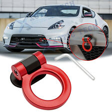For Nissan 370Z Red Track Racing Style ABS Plastic Tow Hook Ring Look Decoration