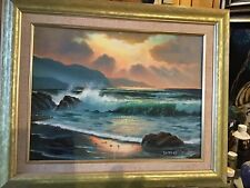 Ocean Waves Oil Painting Hand Painted,Professionally Framed