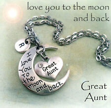 Great Aunt I Love You to the Moon and Back Necklace * Great Aunt Gift