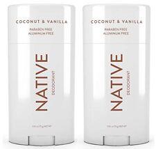 NATIVE Deodorant Coconut & Vanilla (Paraben & Aluminum Free) 2.65oz, 2-PACK +🎁
