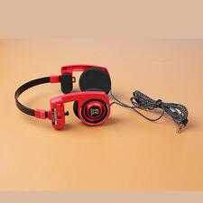 Koss Porta Pro PortaPro Headband Headphones Red L Shape Plug Nylon Wire