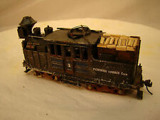 One Climax Logging Steam Engine - custom weathered, refurbished, decorated - HO