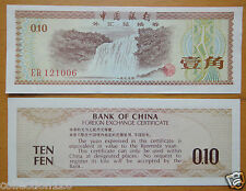 1979 bank of China foreign exchange certificate 1 jiao