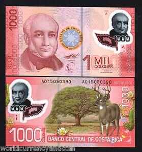 COSTA RICA 1000 P-274 x 50 Pcs Lot 2009 2011 BUNDLE DEER CACTUS POLYMER UNC NOTE