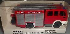 Iveco Magirus LF 16/12 Eurofire 1 Generation devant Werbemodell WIKING 1/87