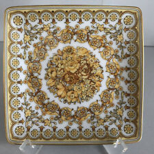 """VERSACE Tribute Baroque SQUARE DISH 4.75"""" Rosenthal Tray Bowl Schälchen  12 cm"""