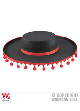 Mens Red Bobble Spanish Flamenco Hat