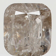 Natural Loose Diamond Cushion I2 Clarity Grey Yellow Color 3.70 MM 0.28 CT N6352