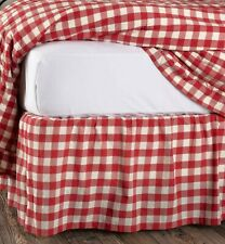 VHC Brands Farmhouse Annie Cotton Split Corners Gathered Buffalo Check Queen Bed