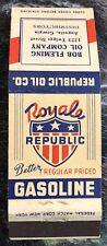 Vintage Royale Republic Gasoline Oil Co. Matchcover Augusta, Georgia