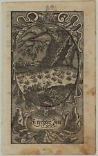 es gab noch viele INSEKTEN Original Ornament Kupferstich um 1750 Rollwerk Kunst