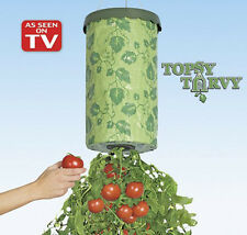 TOPSY TURVY Upside Down Hanging Planter System Tomatoes New