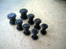 Acrylic Black Plugs Gauges O Rings 4g - 00g Ear Plugs 4 Pairs 8 Pcs kit Set