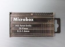 Miniaturbohrer Set Spiralbohrer 0,3...1,6 mm, 20 Stück  Mini Bohrer