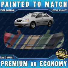 NEW Painted To Match Front Bumper Cover Fascia for 2005 06 07 08 Toyota Corolla