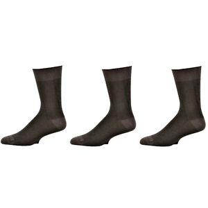 Men's Bamboo Dark Herringbone Crew 3 Pr. Pack Socks, Father's Day Socks