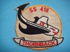 PATCH US NAVY THORNBACK SS-418 TENCH-CLASS SUBMARINE