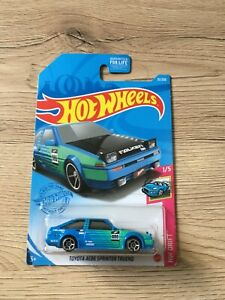 Hot wheels long card Toyota Trueno Ae86 falken 2021