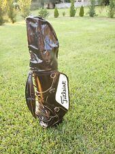 Titleist Black/White Vintage Staff Cart Bag