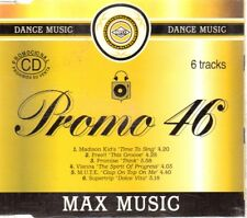 MAX MUSIC PROMO 46 CD Single Techno HOUSE DANCE BIT MUSIC BLANCO Y NEGRO
