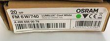 Osram 6W T2 6 Watt 740 Cool White miniature fluorescent pencil tube - PACK OF 10