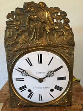 Antique French Morbier Comtoise Clock Time & Strike on bell