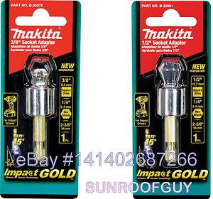 "Makita Impact GOLD (Impact Rated) Socket Adaptor (3/8"" or 1/2"") NEW"
