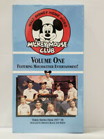 Walt Disney Mickey Mouse Club Volume One 1 (VHS) - NEW & SEALED - 1957-1958