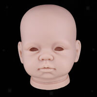 Reborn Doll Kit Unpainted Vinyl Head Mold Awake Newborn Baby Doll Parts 22in