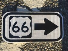 """US 66 road sign 12""""x6""""- UNUSED DOT specs - traffic route highway Historic route"""