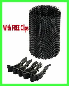 5m GUTTER GUARD MESH + CLips PROTECTOR from LEAVES drain channel cover roll